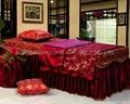 棗紅色NO.001 加厚高檔按摩床、美容床床罩 1