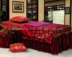 枣红色NO.001 加厚高档按摩床、美容床床罩