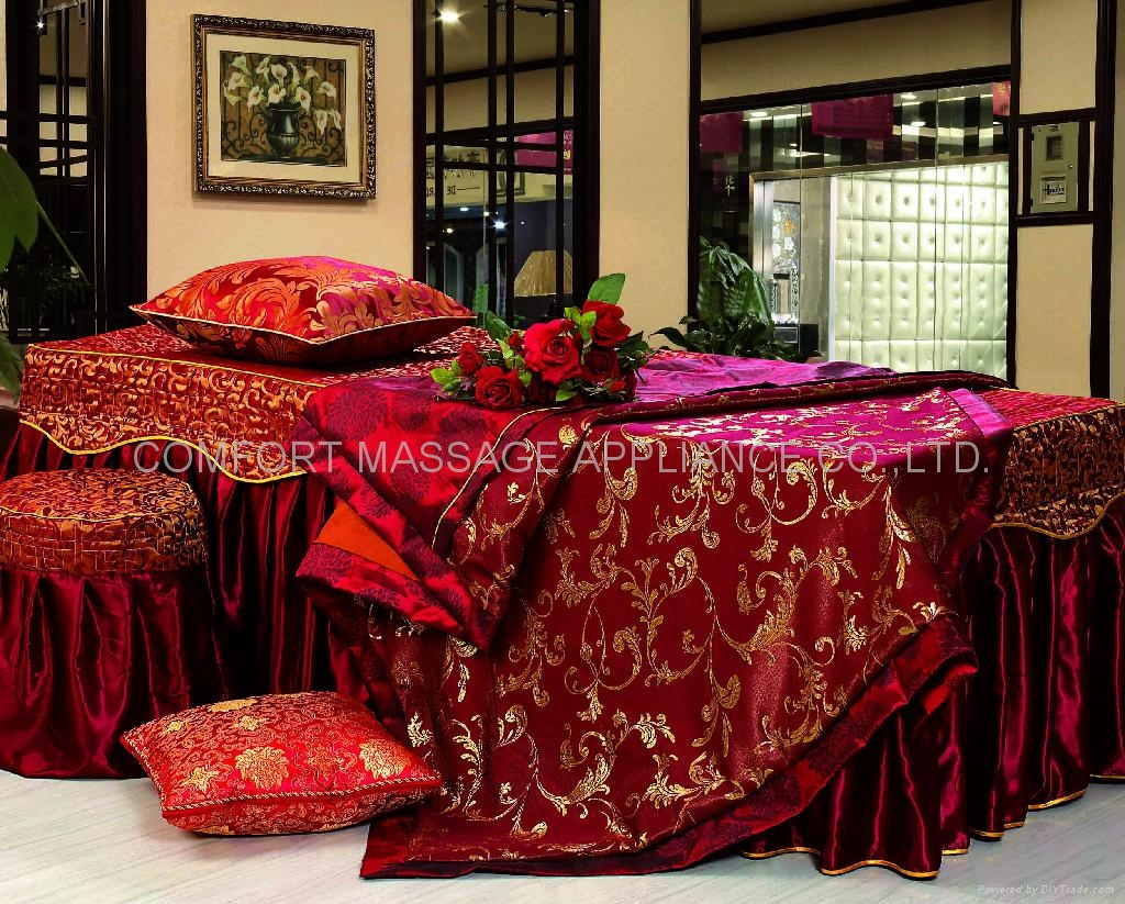 dark red No.001 high grade covers for massage table 2