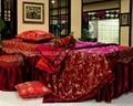 棗紅色NO.001 加厚高檔按摩床、美容床床罩 2