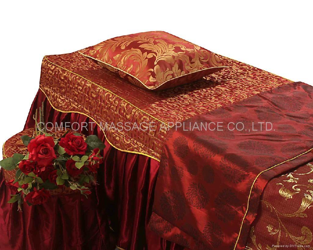 棗紅色NO.001 加厚高檔按摩床、美容床床罩 3
