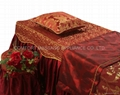 dark red No.001 high grade covers for massage table 3