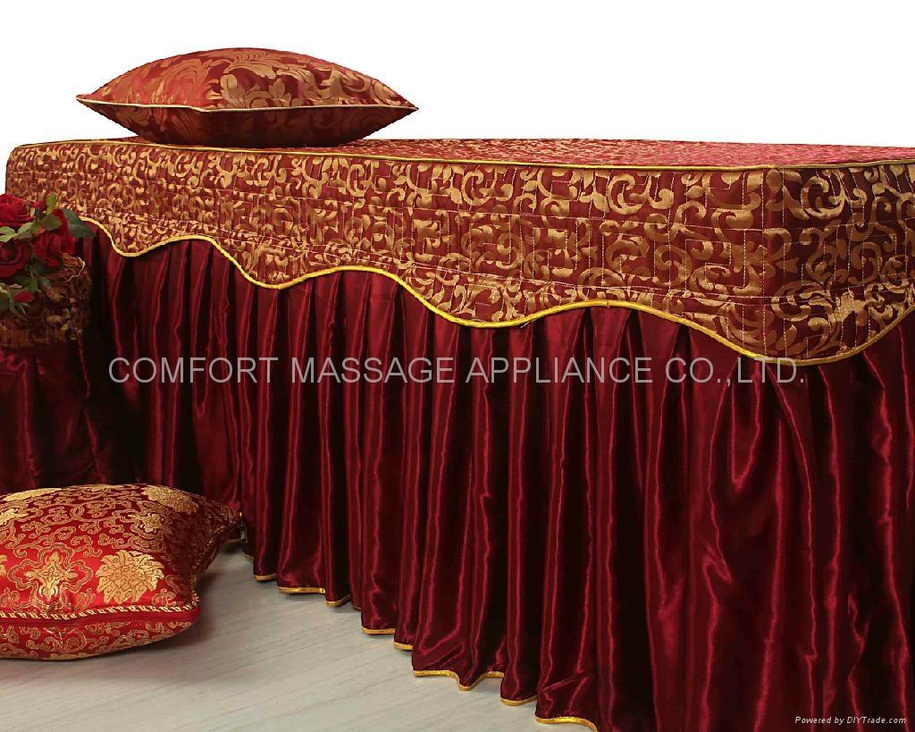 棗紅色NO.001 加厚高檔按摩床、美容床床罩 4