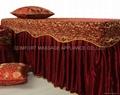 棗紅色NO.001 加厚高檔按摩床、美容床床罩