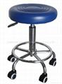 外貿靜音輪調節美容凳