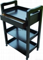 3-shelf beauty tools trolley with draw