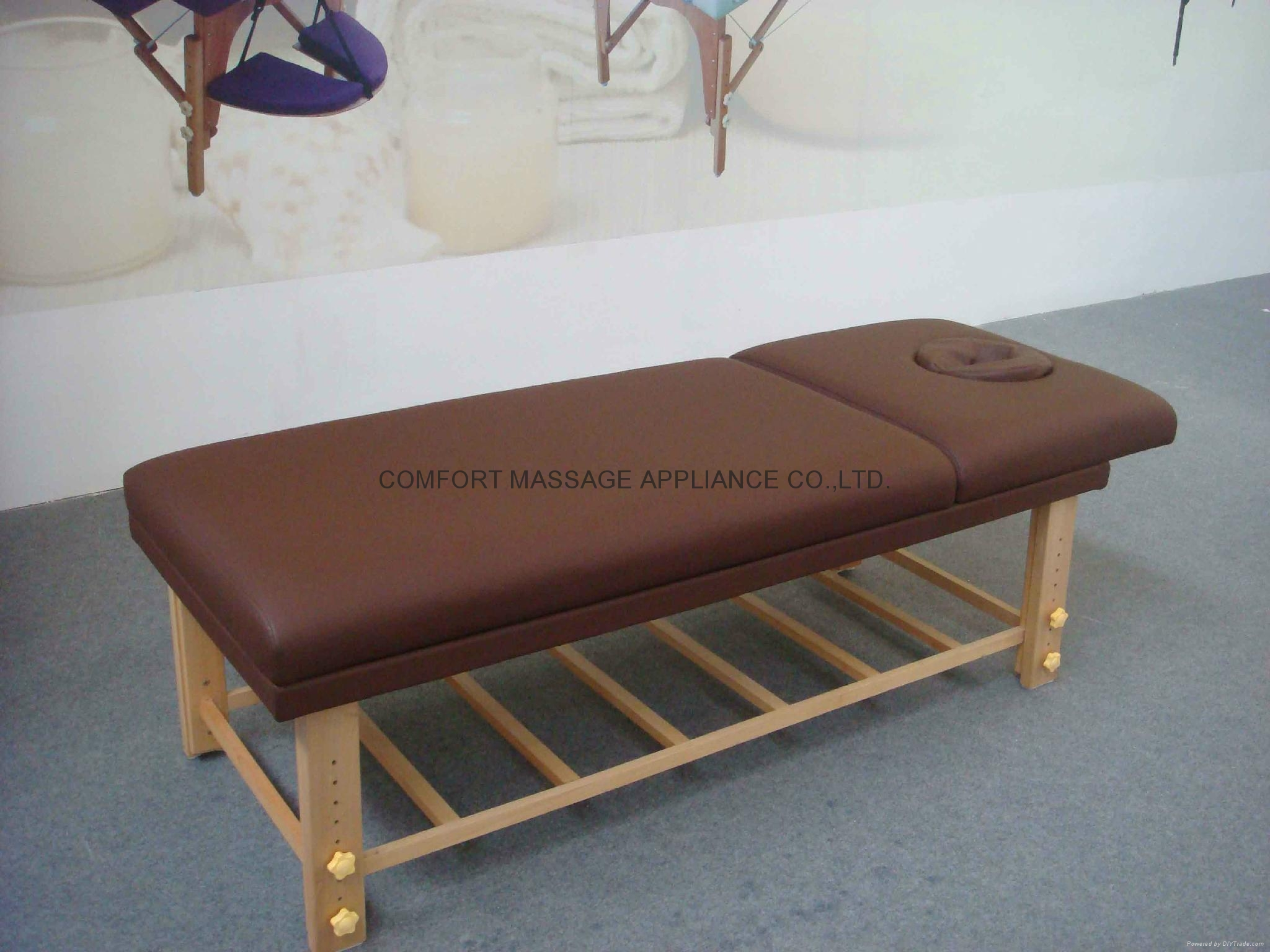 Sm 002 Wooden Stationary Massage Table Comfortable China Manufacturer Massage Table Amp Bed