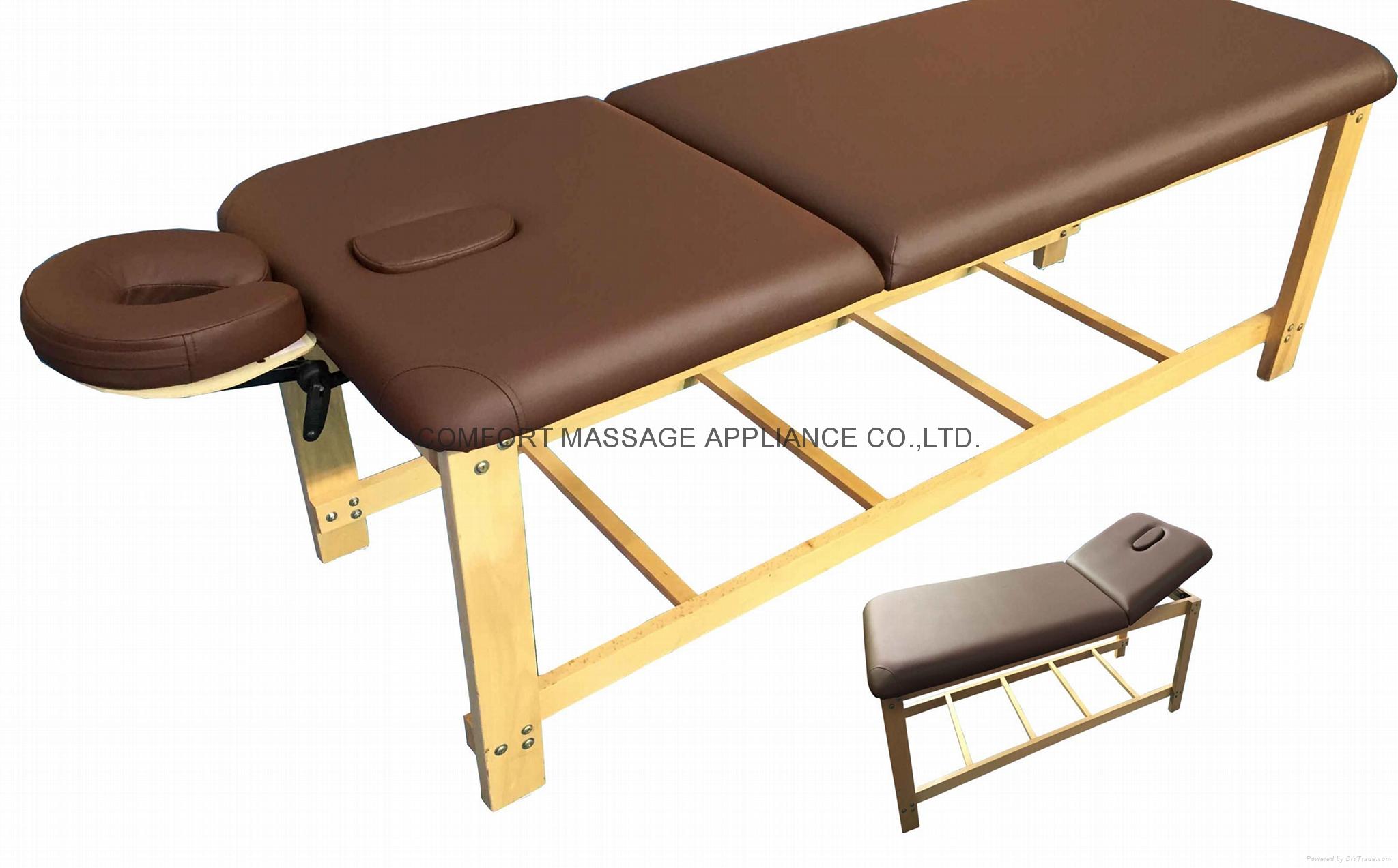 SM-007 disassembled stationary massage table with adjustable backrest 1