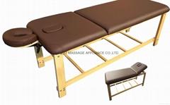 SM-007 disassembled stationary massage table with adjustable backrest
