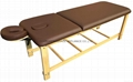 SM-007 disassembled stationary massage table with adjustable backrest