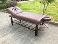 SM-002S dark-red beech stationary massage table、beauty bed