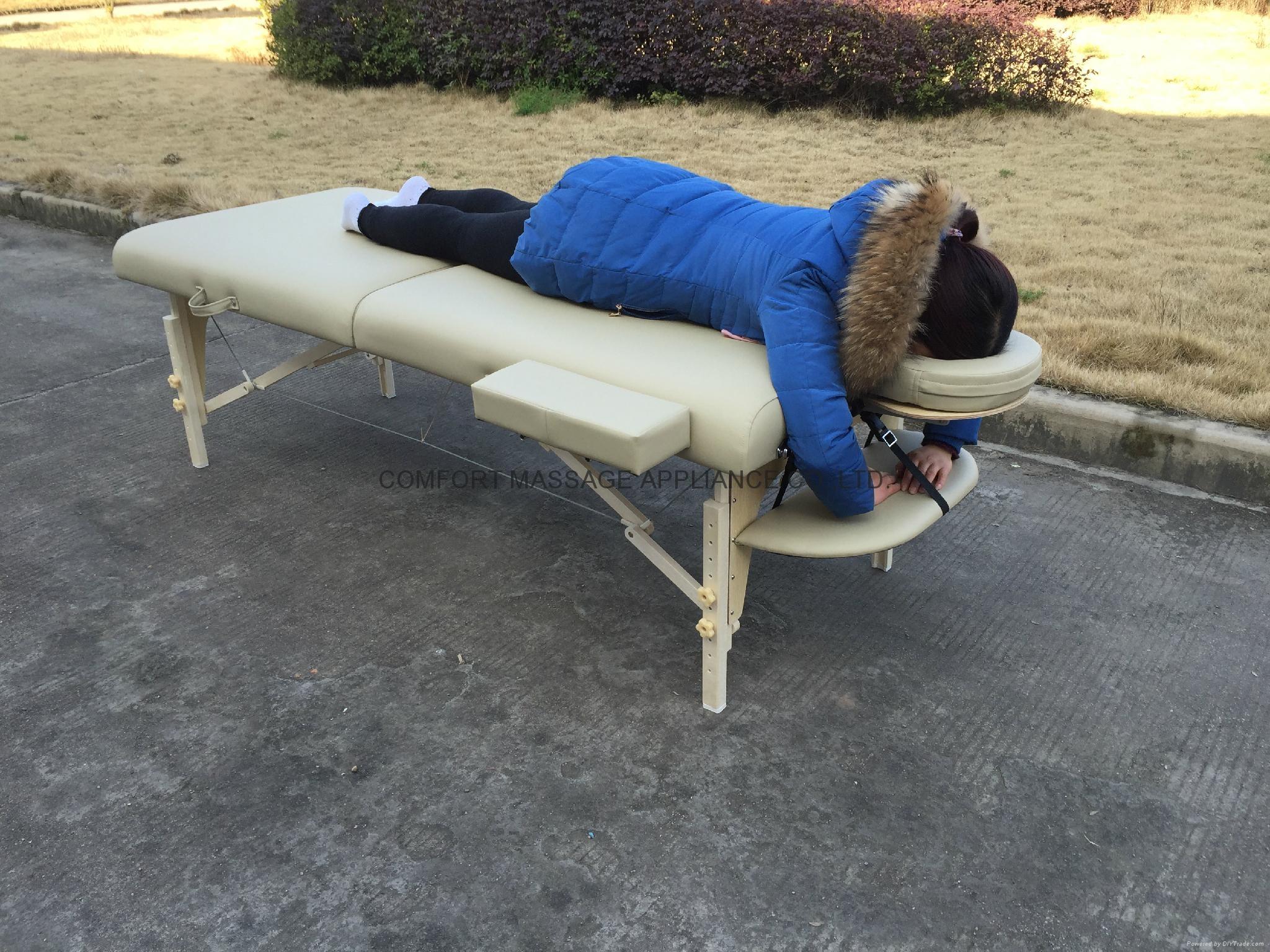 白色櫸木料木製折疊按摩床MT-007W暢銷日本款 4