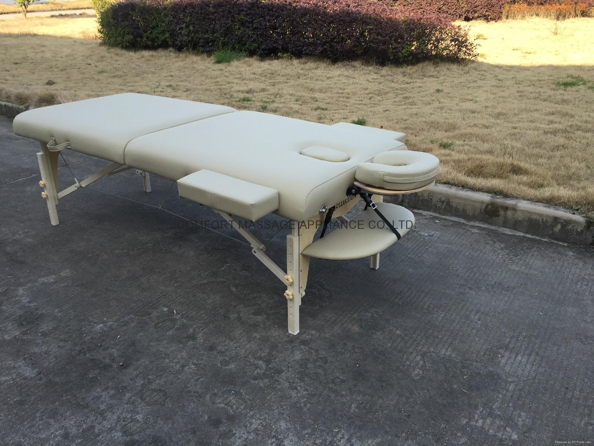 白色櫸木料木製折疊按摩床MT-007W暢銷日本款 2