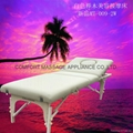 white beech massage table with