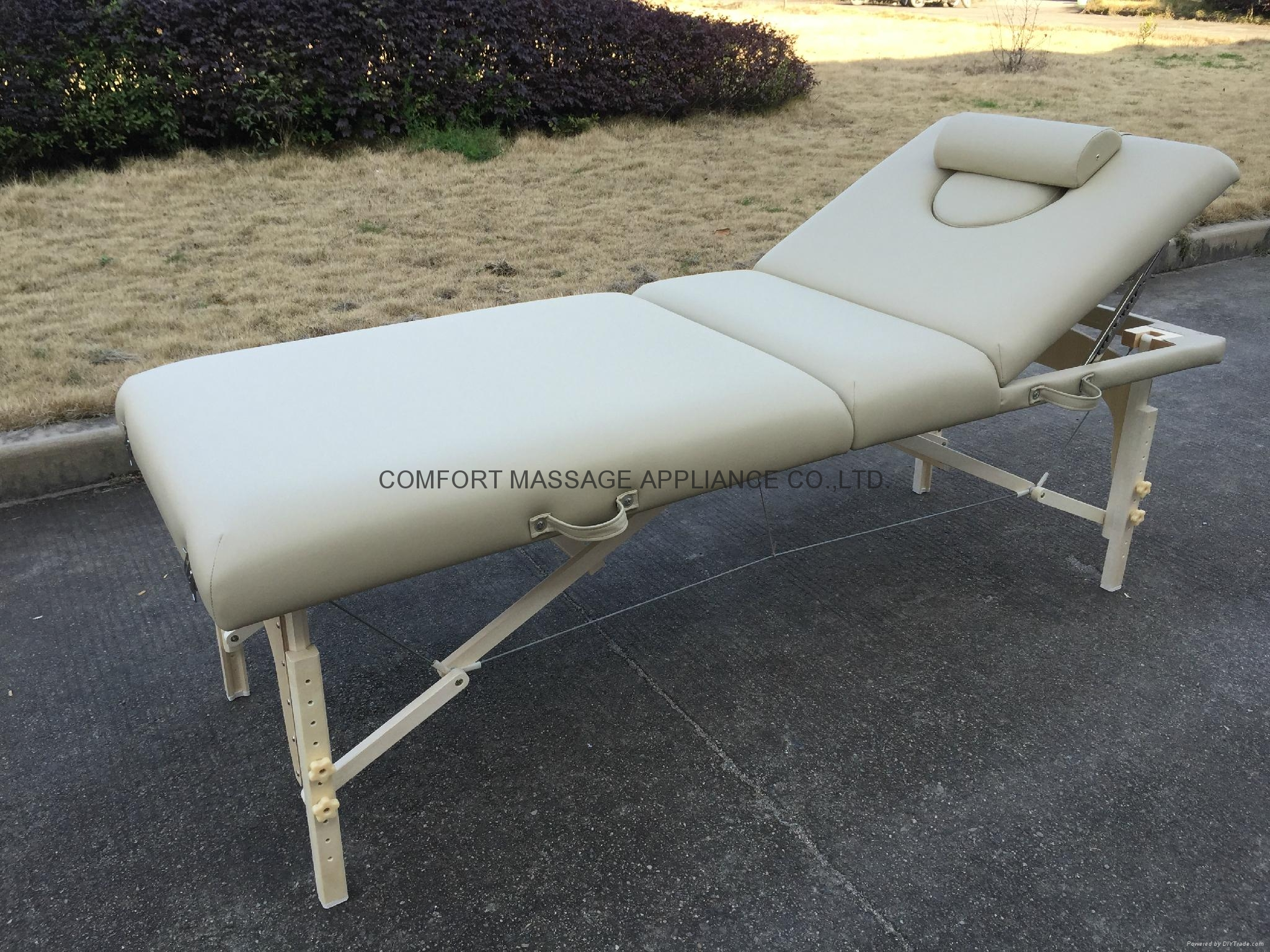 高檔白色櫸木料靠背調節按摩床美容床 3