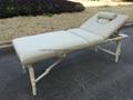 高档白色榉木料靠背调节按摩床美容床