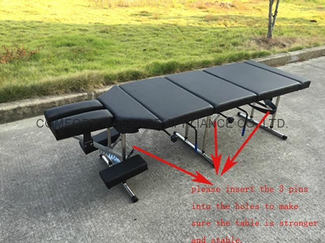 chiropractic table with pressure drop system MTL-012 3