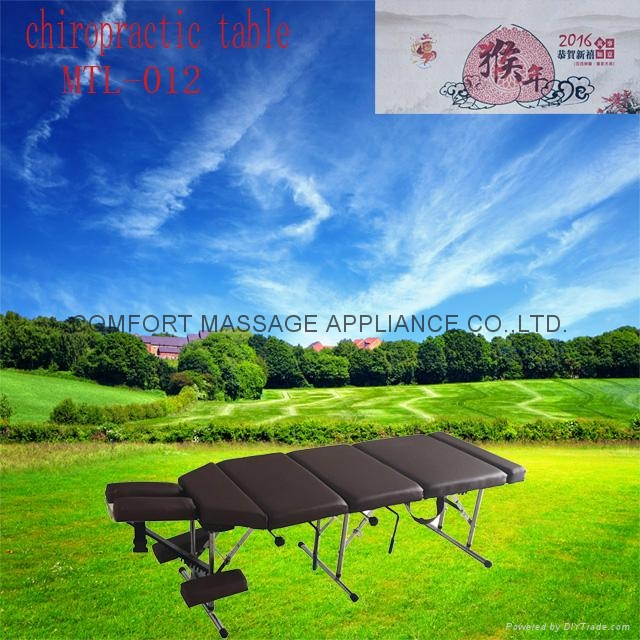 chiropractic table with pressure drop system MTL-012 1