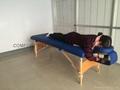 木製折疊按摩床配有調節枕頭和下扶手MT-006B 7