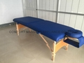 folded wooden massage table with adjustable headrest MT-006B