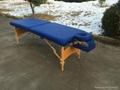 木製折疊按摩床配有調節枕頭和下扶手MT-006B 8