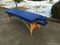 folded wooden massage table with adjustable headrest MT-006B 8