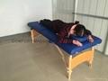 木製折疊按摩床配有調節枕頭和下扶手MT-006B 4