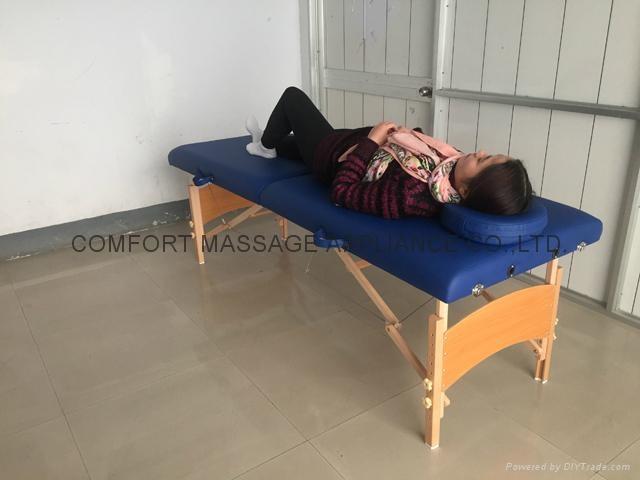 木製折疊按摩床配有調節枕頭和下扶手MT-006B 5