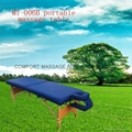 folded wooden massage table with