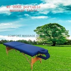 木製折疊按摩床配有調節枕頭和下扶手MT-006B