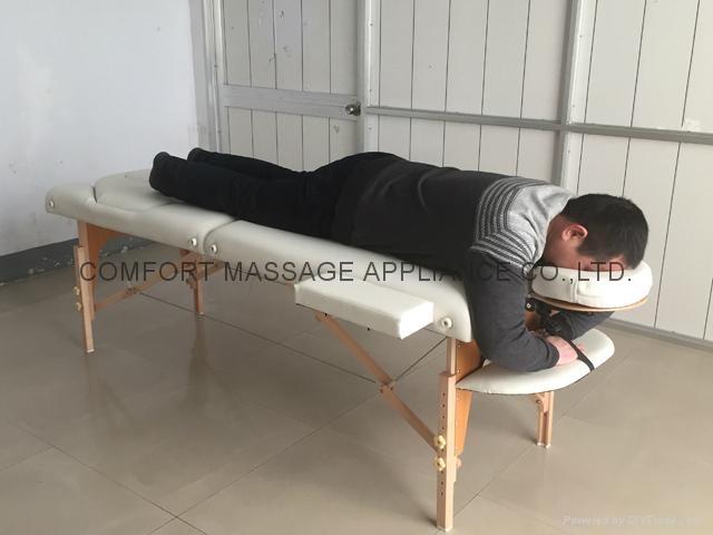 靠背調節配置齊全的木製折疊按摩床MT-009BS 5