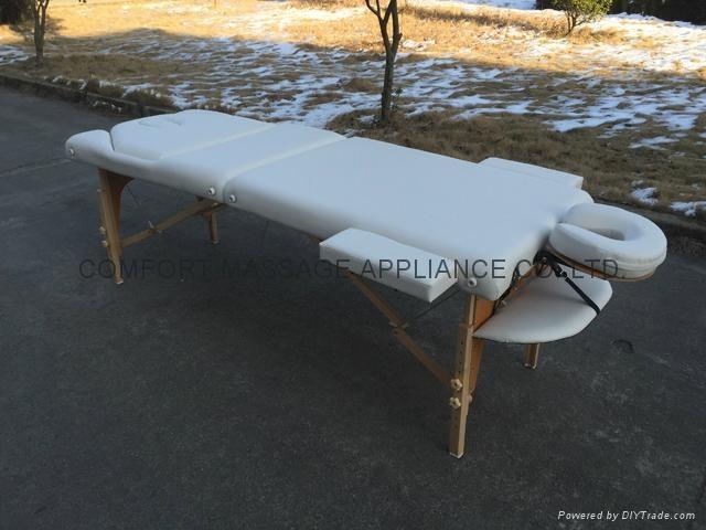 靠背調節配置齊全的木製折疊按摩床MT-009BS 4
