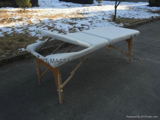 靠背調節配置齊全的木製折疊按摩床MT-009BS 11