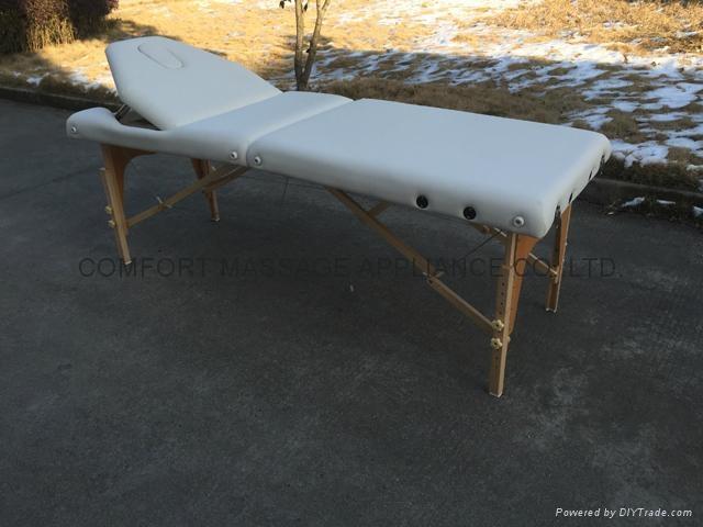 靠背調節配置齊全的木製折疊按摩床MT-009BS 10