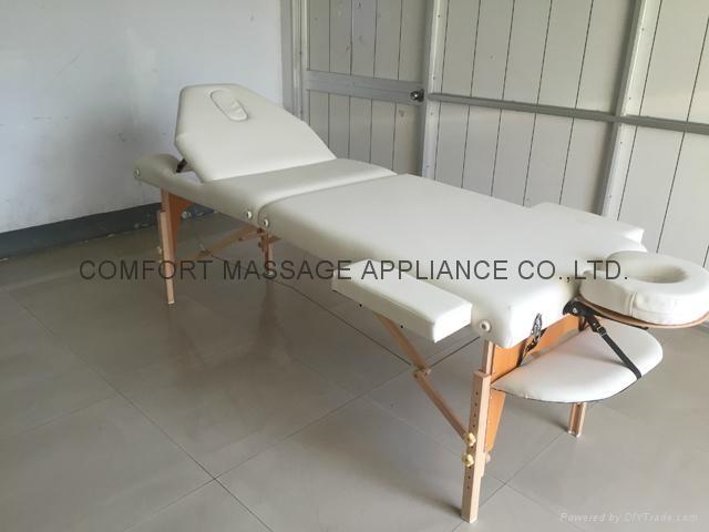 靠背調節配置齊全的木製折疊按摩床MT-009BS 13