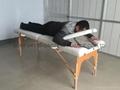 靠背調節配置齊全的木製折疊按摩床MT-009BS 6