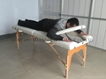 portable massage table with adjustable backrest and full accessories  6