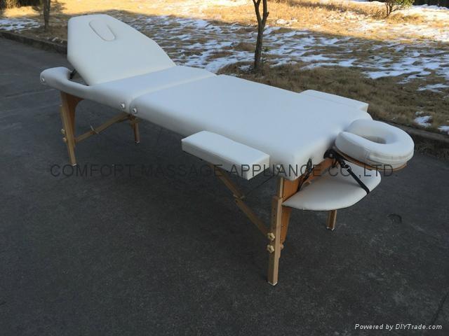 靠背調節配置齊全的木製折疊按摩床MT-009BS 3