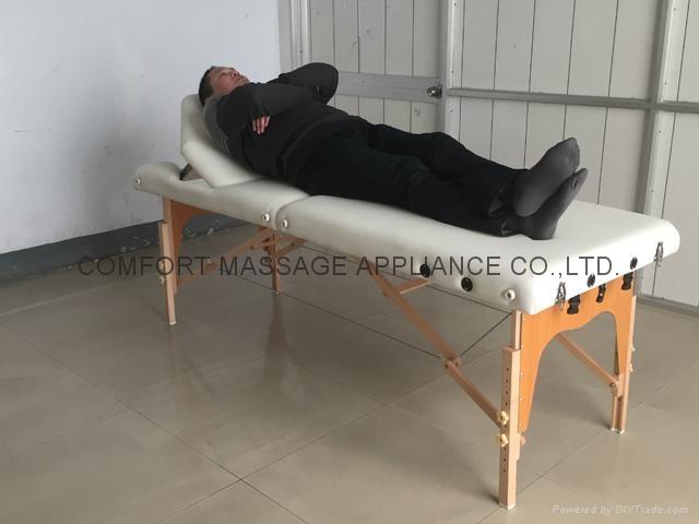 靠背調節配置齊全的木製折疊按摩床MT-009BS 7