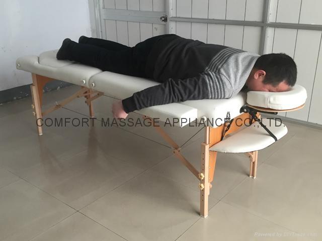 靠背調節配置齊全的木製折疊按摩床MT-009BS 8