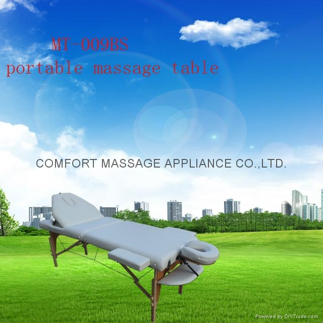 portable massage table with adjustable backrest and full accessories  2