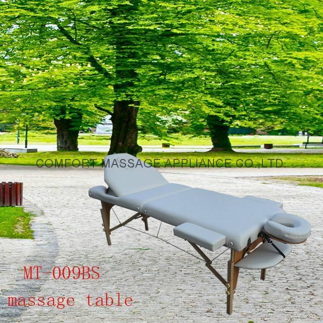 靠背調節配置齊全的木製折疊按摩床MT-009BS 1