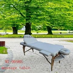 靠背調節配置齊全的木製折疊按摩床MT-009BS