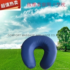 U-shape face cushion for massage or beauty