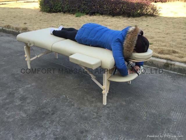 MT-007W 白櫸折疊按摩床、美容床、美體床 3