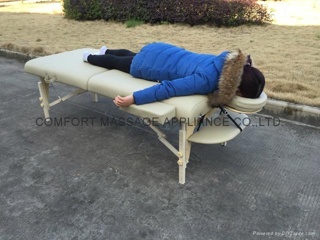MT-007W 白櫸折疊按摩床、美容床、美體床 4