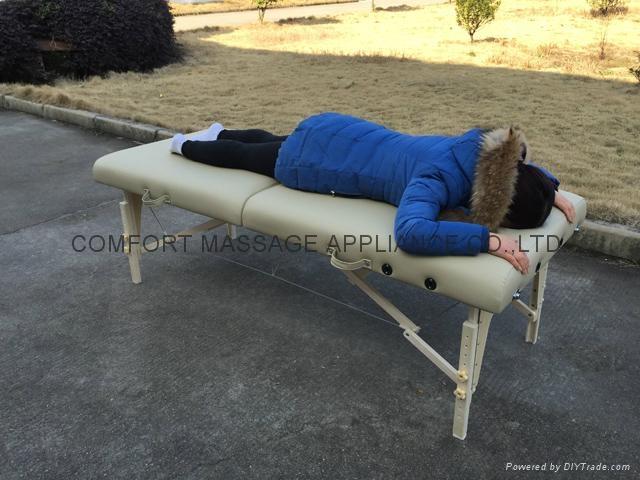 MT-007W 白櫸折疊按摩床、美容床、美體床 5