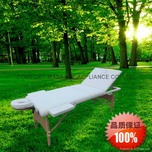 longer and wider wooden massage table with backrest