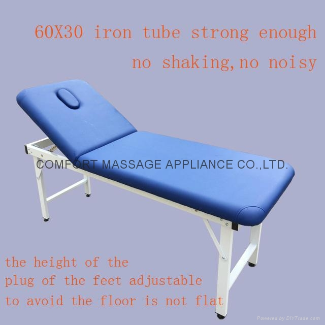 iron stationary massage table beauty bed