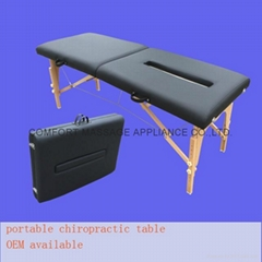 可折叠实木整脊床 美式整脊床脊柱梳理床